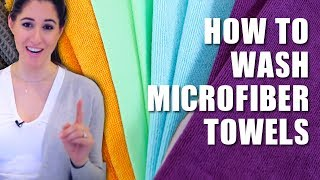 How to Wash Microfiber Towels!