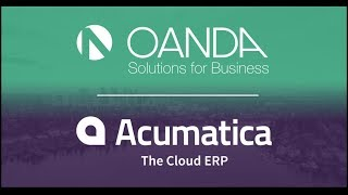 OANDA | Exchange Rates API on Acumatica Cloud ERP