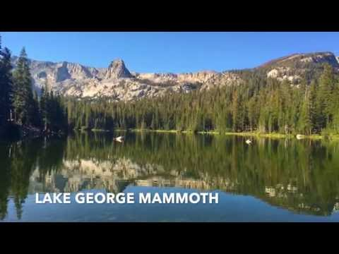 Driving on U.S. Route 395 in California to Mammoth Lakes.