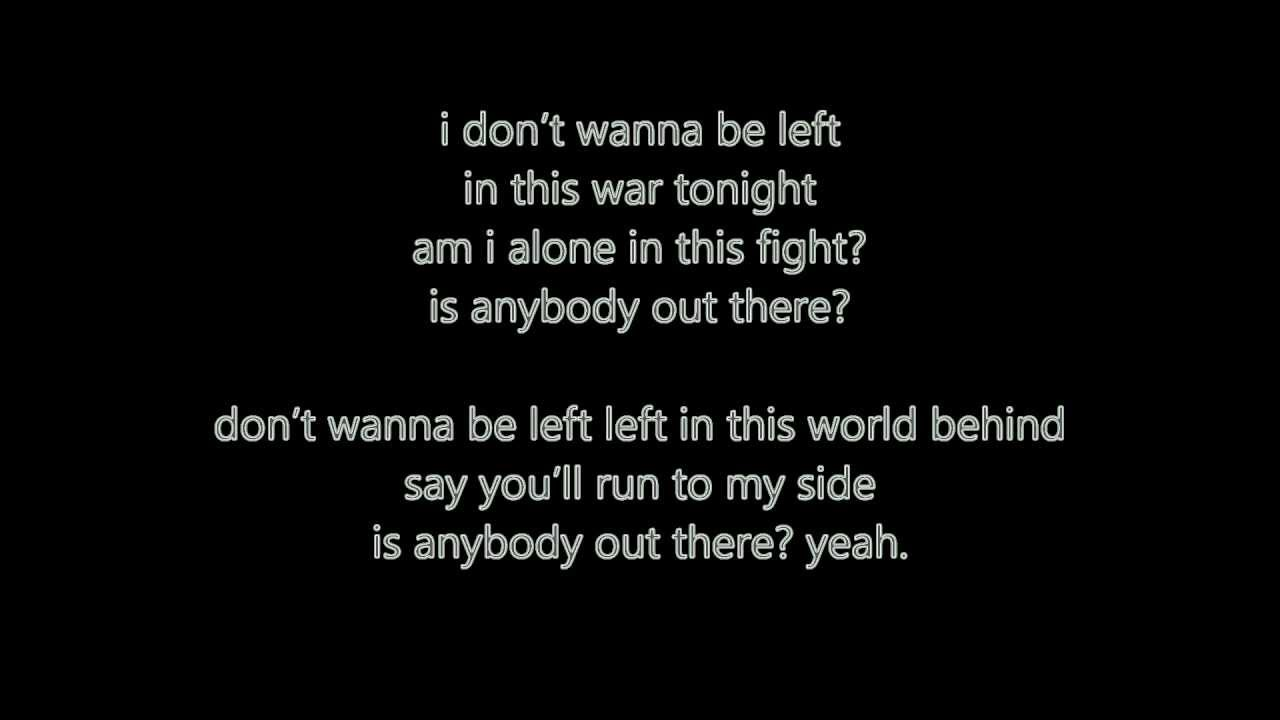 Karaoke Is Anybody Out There - Video with Lyrics - K'naan