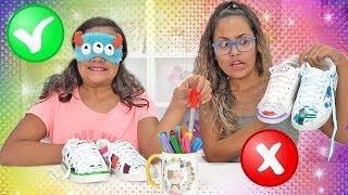 DESAFIO COLORINDO TÊNIS COM 3 CORES! (3 MARKER CHALLENGE) - JULIANA BALTAR