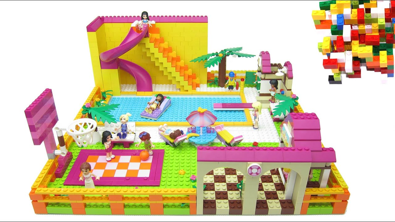 lego friends swimming pool by misty brick youtube