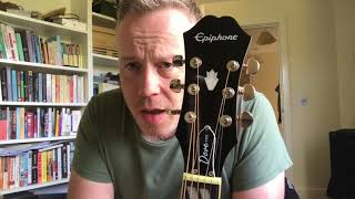Epiphone Dove Pro electro acoustic guitar - first impressions