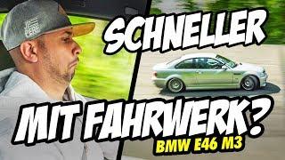 JP Performance - Wie viel schneller ist er mit einem Fahrwerk? | BMW E46 M3 | LASISE
