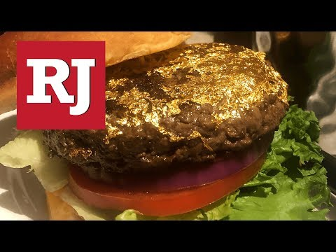 Hard Rock Cafe Now Has A Glittery 24-Karat Gold Burger On Its Menu