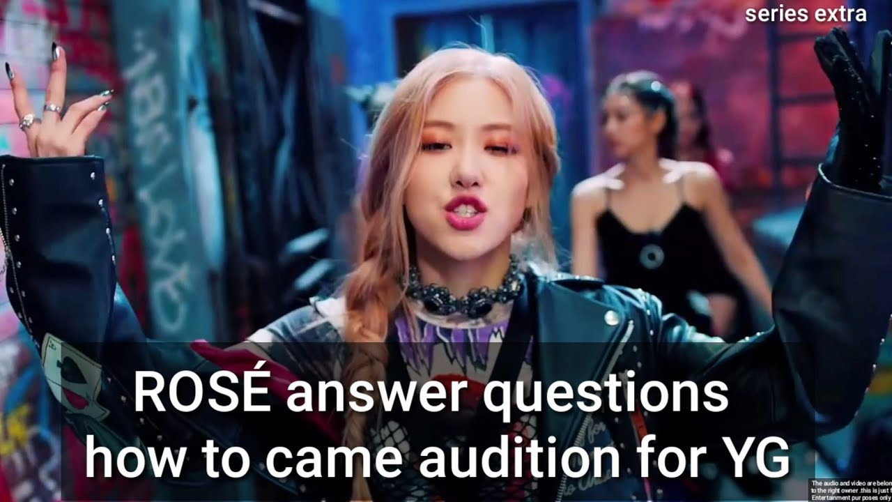 Blackpink ROSÉ  answer questions how to came audition for  YG #Coachella  #killthislove #Blackpin
