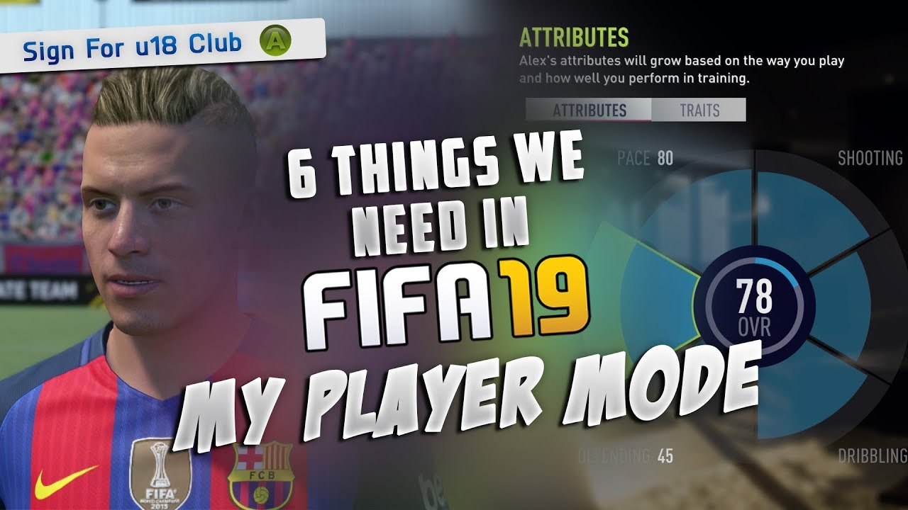 6 Things We WANT In FIFA 19 My Player Career Mode - YouTube 5f7f37807