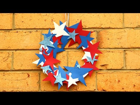 4th Of July Crafts For Kids~4th Of July Easy Crafts~paper Plate Wreath