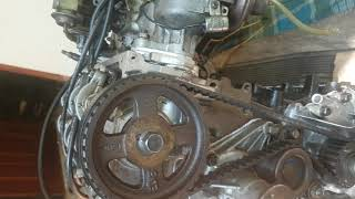 Hyundai excel (1985)- Engine timing mark