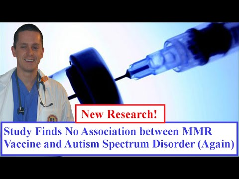 Study Finds No Association between MMR Vaccine and Autism Spectrum Disorder (Again)