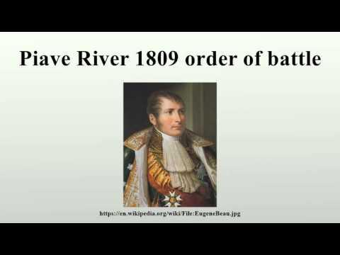 Piave River 1809 order of battle