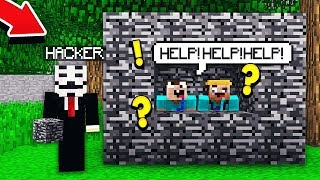 PRETENDING TO BE A HACKER ON MY MINECRAFT SERVER!
