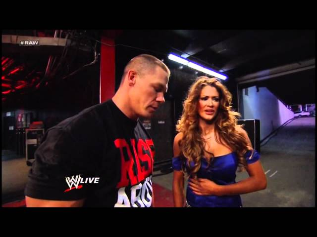 WWE: Eve kissed John Cena - RAW 2012/02/13 Travel Video