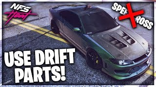 DRIFT PARTS WORK!! USE THEM! | THE ULTIMATE DRIFT SETUP IN NEED FOR SPEED HEAT!