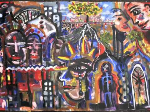 Tunisian Collaborative Painting in America Slideshow