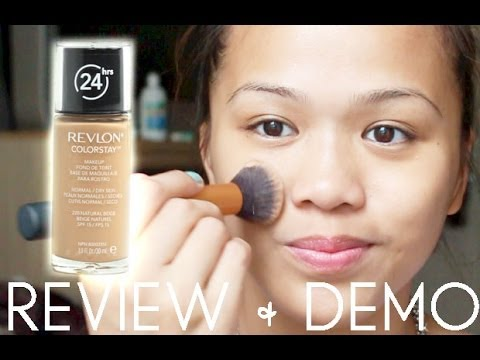 REVIEW + DEMO Revlon Colorstay 24 Hours Foundation - YouTube