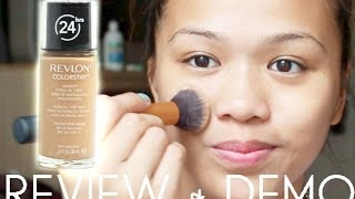 REVIEW + DEMO Revlon Colorstay 24 Hours Foundation