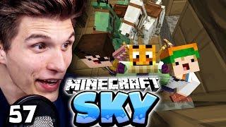 DAS EXPERIMENT! DER SKELETT/ZOMBIE+PFERDE VIRUS! ✪ Minecraft Sky #57   Paluten