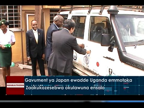 Gavumenti ya Japan ewadde Uganda emmotoka