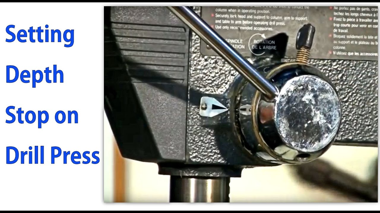 Setting The Depth Stop On A Drill Press Woodworkweb