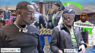 GUNNA runs into BLACC ZACC making a CRAZY custom pendant at Jewelry Unlimited
