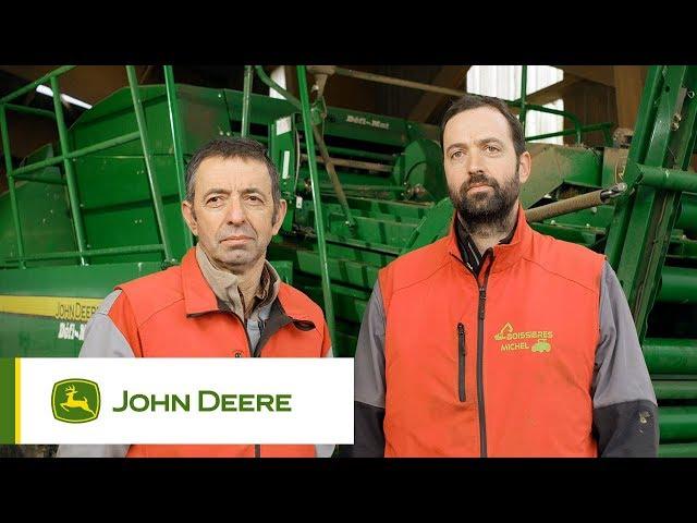 John Deere - Customer experience L1534 Baler, Boissières, France