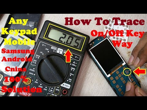 How to Fix Any Samsung /China /Android/ Keypad Mobile On/Off Key Not Working Solution