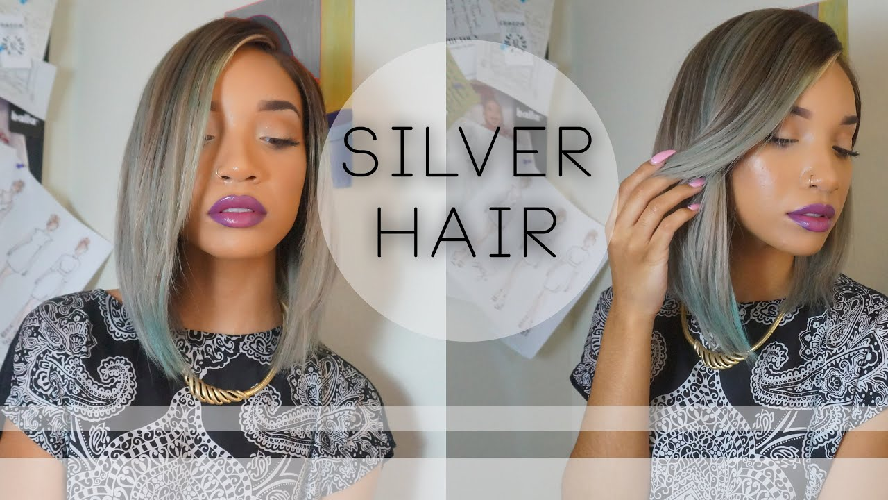How I Dyed My Hair Silver Raven Elyse Youtube