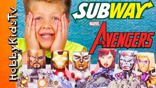 Avengers Bobble Heads! Subway Funko Blind Boxes Lego Kit [76029] Hobbykidstv