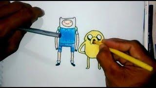Como Desenhar Finn e Jake De Hora Da Aventura