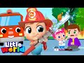 Baby John & The Firetruck to the Rescue | Policeman and Ambulance | Kids Songs By Little World