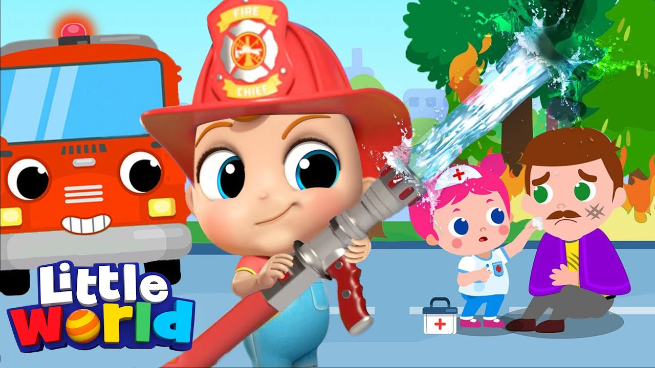 Baby John & The Firetruck to the Rescue | Policeman and ...
