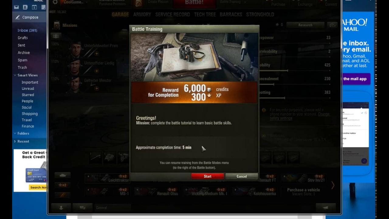 World of Tanks: how to register 82