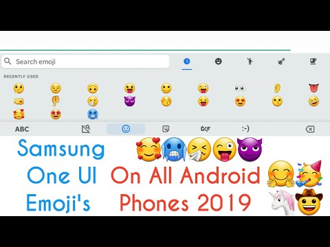One Ui Emoji's On All Android's 2019