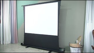 [리뷰온] 이동형 프로젝터 스크린 끝판왕 오로라 유압 …