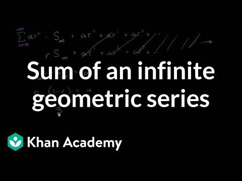 Another derivation of the sum of an infinite geometric series   Precalculus   Khan Academy