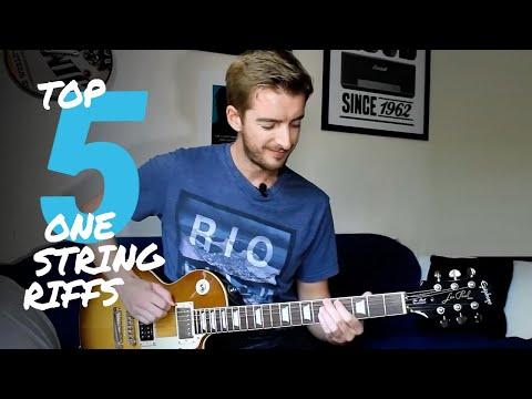 5 Easy Guitar Riffs on 1 STRING! Guitar Tutorial Easy Riffs Lesson #1