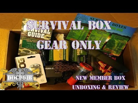 Survival Box Gear Only - New Member Box Unboxing & Review