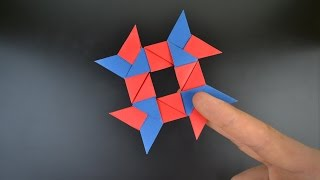 Origami: 8-Pointed Ninja Star / Shuriken - Instructions in English (BR)