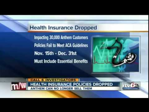 WRTV: In Indiana, 30K Anthem Customers Have Their Health Plans Cancelled Due To ObamaCare