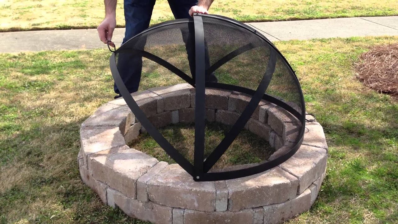 "Hampton's Buzaar 40"" Fire Pit Spark Screen - YouTube"