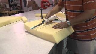 Cutting Cushion Foam Using Electric Kitchen Knife