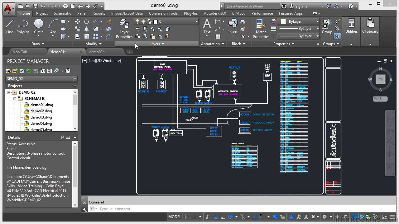 Autocad Electrical 2015 Tutorial Introduction Youtube