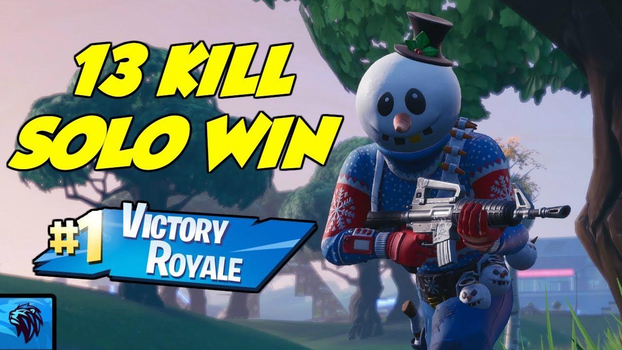 13 kill solo win fortnite season 7 no commentary full game - fortnite gameplay no commentary solo win