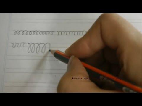 Caligrafía: Ejercicios para agilizar la mano primera parte