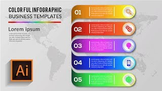 How To Create Colorful Infographic Business Template In Illustration tutorial