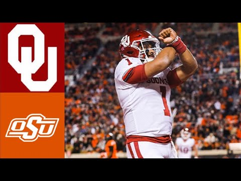 #7 Oklahoma Vs #21 Oklahoma State Highlights | NCAAF Week 14 | College Football Highlights