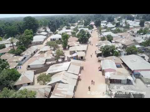 Arial View of Gunjur, The Gambia