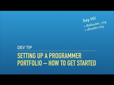 Setting Up a Programmer Portfolio/Developer Blog – How To Get Started