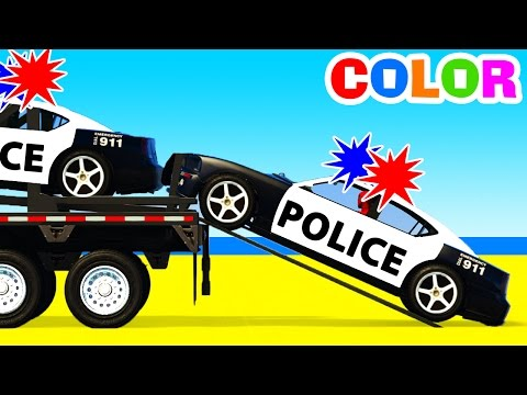 Thumbnail: Color Police Cars Transportation & Learn Numbers with Superhero Educational Video w Colors for Kids